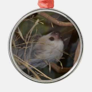 Face of Sloth Metal Ornament