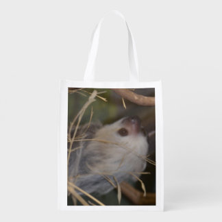 Face of Sloth Reusable Grocery Bag