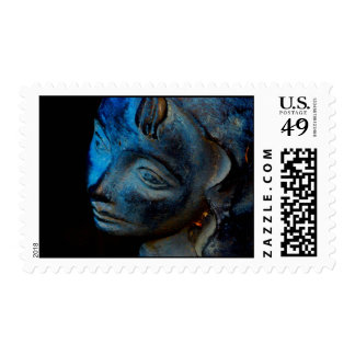 Face of the Bird Girl Stamp