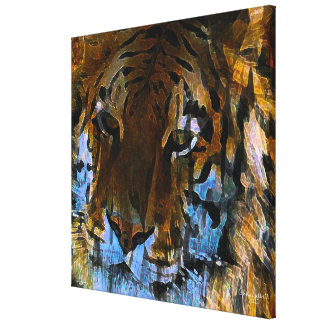 Face of the Tiger Stretched Canvas Print
