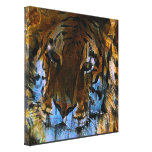 Face of the Tiger Gallery Wrapped Canvas
