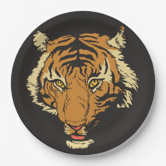 FACE OF THE TIGER PAPER PLATE