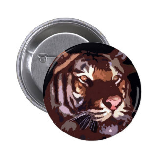 Face of Tiger Pinback Button