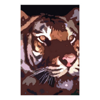 Face of Tiger Customized Stationery