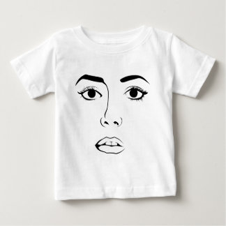 Face OF Woman Baby T-Shirt