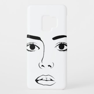 Face OF Woman Case-Mate Samsung Galaxy S9 Case