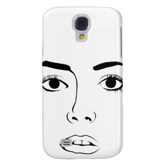Face OF Woman Galaxy S4 Cover