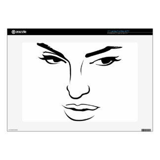 Face of Woman Skins For Laptops