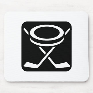 Face Off Puck Mouse Pad