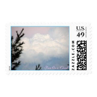 Face On A Cloud Postage