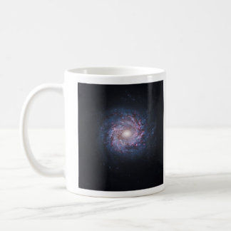 Face On Spiral Galaxy NGC 3982 from the Hubble Coffee Mug