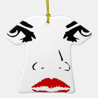 face Double-Sided T-Shirt ceramic christmas ornament