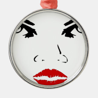 face round metal christmas ornament