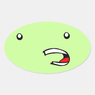 Face Oval Sticker