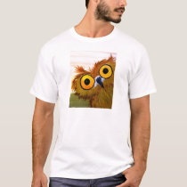 Face owl hide t shirt