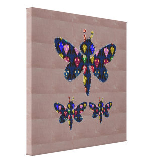Face Painted DRAGON FLY insect  navinJOSHI NVN148 Gallery Wrapped Canvas