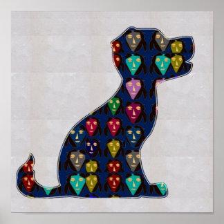 FACE painted PUPPY dog pet fun NavinJOSHI NVN114 Poster
