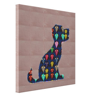 Face Painted PUPPY dog pet fun  navinJOSHI NVN149 Gallery Wrapped Canvas