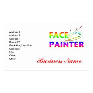 Face Painter Business Card