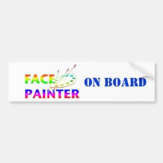 Face Painter Car Bumper Sticker