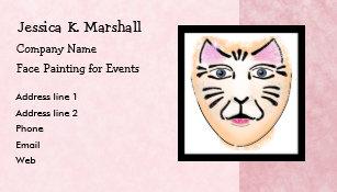 Face painting business cards zazzle face painter fantasy makeup artist pink business card colourmoves