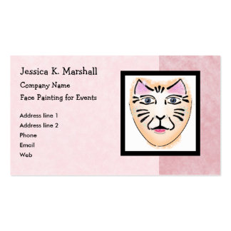 Face Painter / Fantasy Makeup Artist (Pink) Double-Sided Standard Business Cards (Pack Of 100)