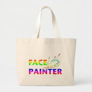 Face Painter Jumbo Tote Bag