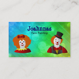 Face painting business cards zazzle face painting business cards colourmoves