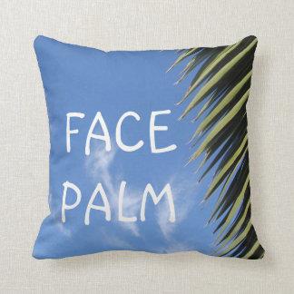 Face Palm Pun Throw Pillow