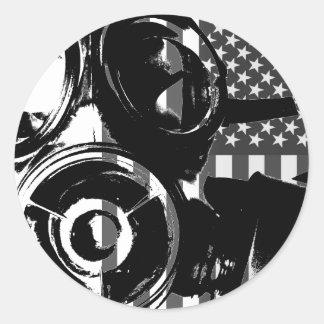 FACE PALM Retro Gas Mask Design 2 Sticker