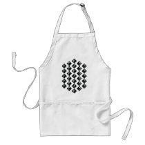 Face pattern adult apron