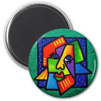 Face Pieces 2 Inch Round Magnet