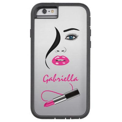 Face Pink Lipstick Mirror Xtreme iPhone 6 6S Cases Tough Xtreme iPhone 6 Case