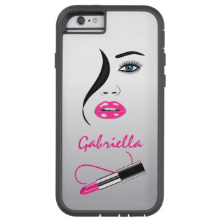 Face Pink Lipstick Mirror Xtreme iPhone 6 Cases Tough Xtreme iPhone 6 Case