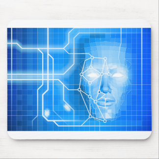 Face Recognition Facial Technology Background Mouse Pad