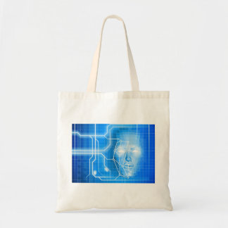Face Recognition Facial Technology Background Tote Bag