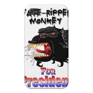 Face-Ripper Monkey for President iPhone 4 Cover