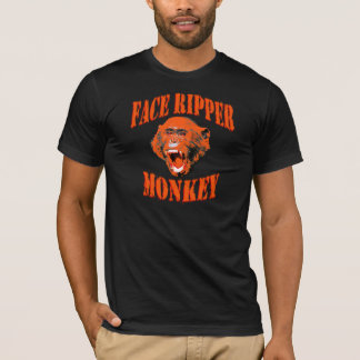 Face-Ripper Monkey (orange) T-Shirt