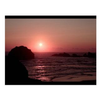 Face Rock at Sunset in Bandon Oregon Postcard