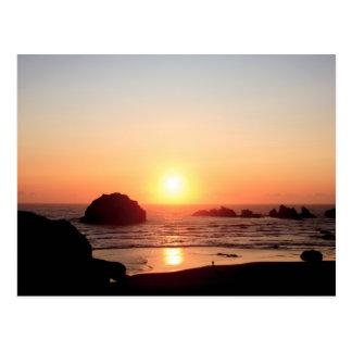 Face Rock Sunset Postcard