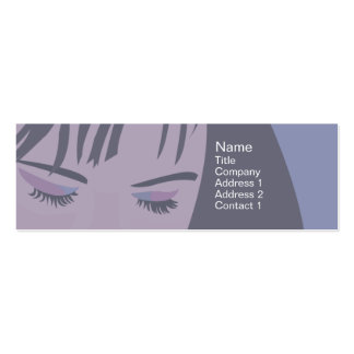 Face - Skinny Double-Sided Mini Business Cards (Pack Of 20)