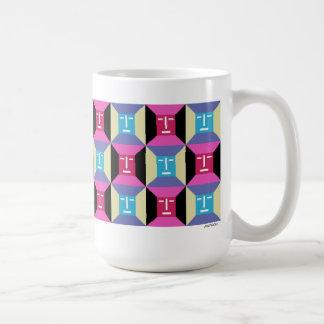 Face Squares 1 Classic White Coffee Mug