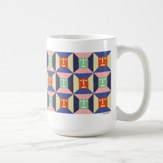 Face Squares 2 Classic White Coffee Mug