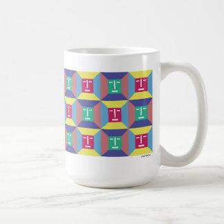 Face Squares 4 Classic White Coffee Mug