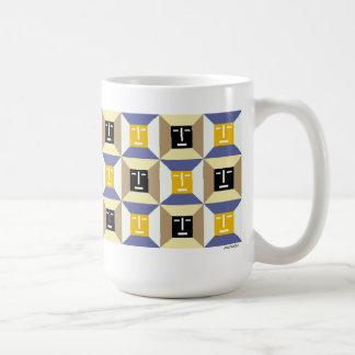 Face Squares 6 Classic White Coffee Mug