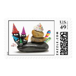 Face Stones Birthday 002 Stamp