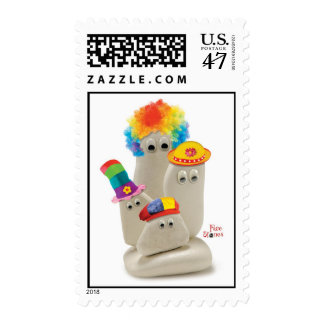 Face Stones Clowns Postage
