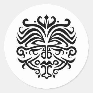 Face Tattoo Classic Round Sticker