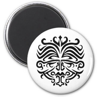 Face Tattoo 2 Inch Round Magnet