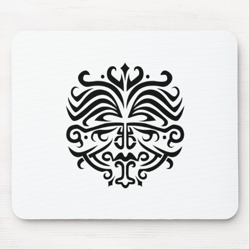 Face Tattoo Mouse Pad